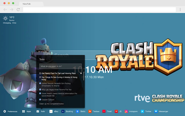 clash royale Popular Games HD New Tabs Themes