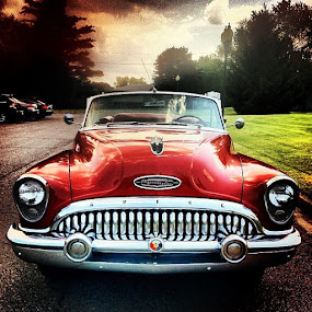 Who needs a limo when this is an option??? by Erin Watson - Instagram & Mobile Instagram ( car, instagram, automobile, vehicle, chrome, buick, iphone, convertible, red, erin watson photography, 53, cell phone, mobile )