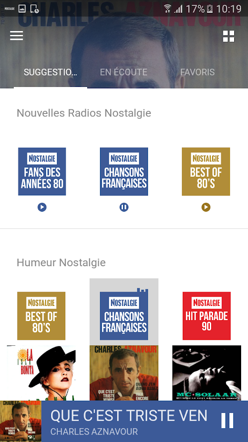 Nostalgie Radios- screenshot