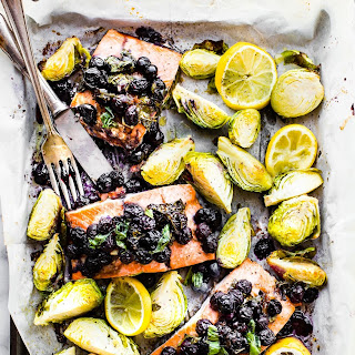 SUPER FOOD BAKED SALMON - ONE PAN MEAL.