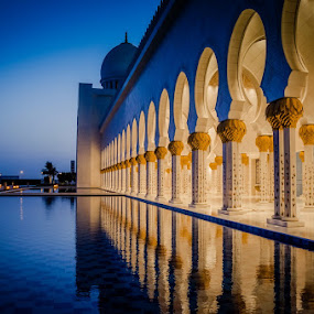 Nature Vs Man made. by Manoj Kumar Kd - Buildings & Architecture Places of Worship ( grand mosque, uae, abu dhabi, mojofotography )