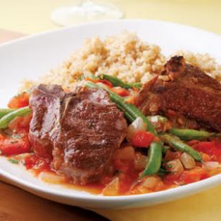 Lamb Chops with Lebanese Green Beans.