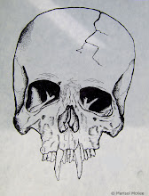 Photo: Sabertooth Skull. 9 in x 12 in. India ink on 70 lb. paper. Created back when I was 14 years old. ©Marisol McKee