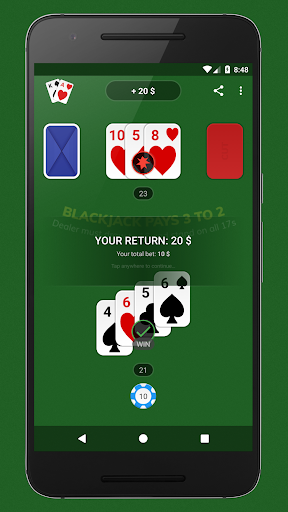 Blackjack - Free & Offline 1.4.0 Mod screenshots 5