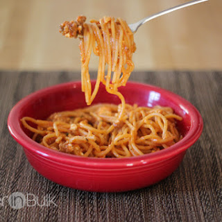 Quick One-Pot Spaghetti with Meat Sauce.
