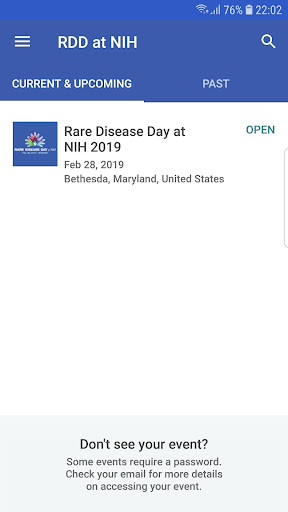 Screenshot for Rare Disease Day at NIH in United States Play Store