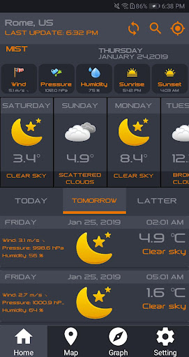 Screenshot for 5 Day Weather Forecast Widget Live Weather Channel in United States Play Store