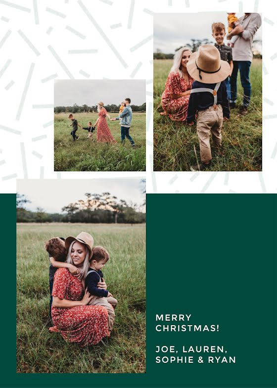 Greetings from the Swans - Christmas Card Template