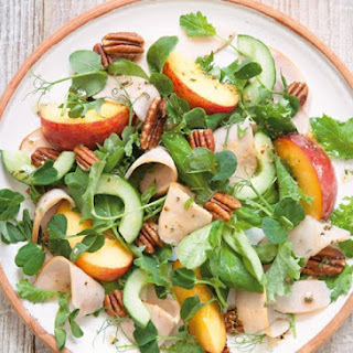 Smoked Chicken Salad With Peaches
