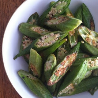 Roasted Okra Chips from 'Mastering the Art of Southern Cooking'.