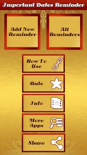Important Dates Reminder - náhled