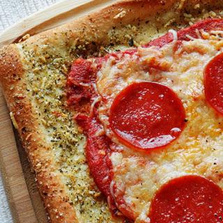Garlic Bread Crusted Classic Pizza