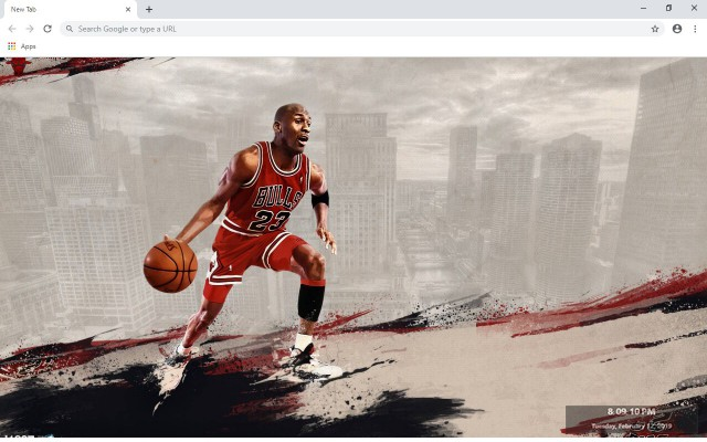 Michael Jordan New Tab Theme
