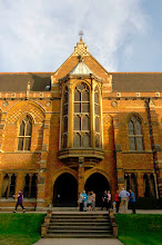 Photo: Keble College at sunset.