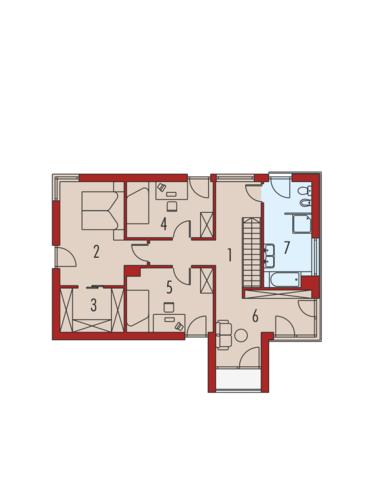 EX 1 Energo Plus - Rzut piętra