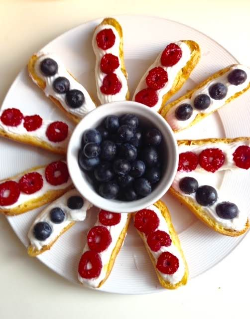 Star Spangled Eclairs Recipe