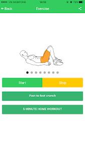Abs 5 minutes workout screenshot 1