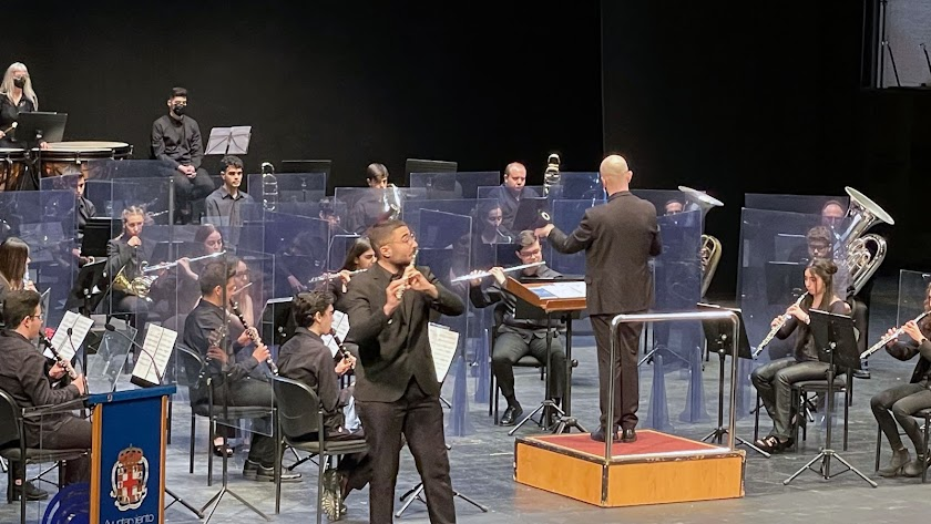 El ganador en la categoría A ha sido Raúl Delgado, flauta.