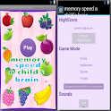 memory speed a child's brain icon