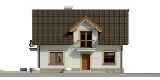 Dom przy Alabastrowej 20 - Elewacja przednia