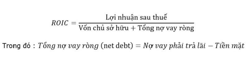 công thức cách tính ROIC theo nợ dài hạn