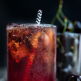 Black Cherry Bourbon Cola Smash