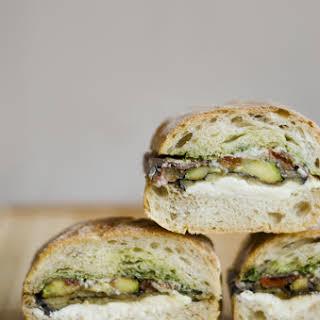 Pressed Eggplant Sandwich.