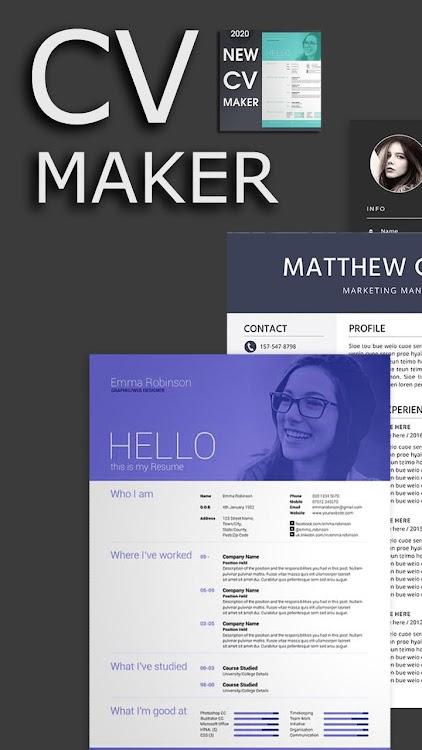 Professional Cv Maker Free Resume Builder Android
