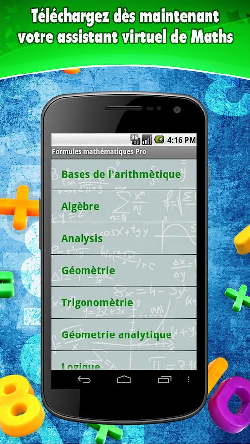 Fórmulas Matemáticas- screenshot