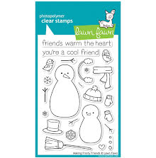 Lawn Fawn Clear Stamps 4X6 - Making Frosty Friends