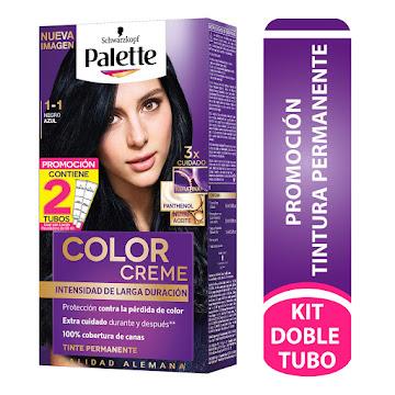 //Tinte SCHWARZKOPF   PALETTE color cream permanente negro azul 1-1 x2tub