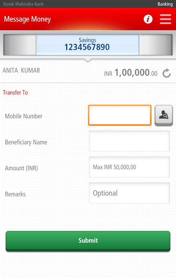 Kotak Bank- screenshot