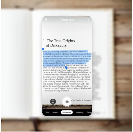 Use Google Lens to copy and paste text to your computer