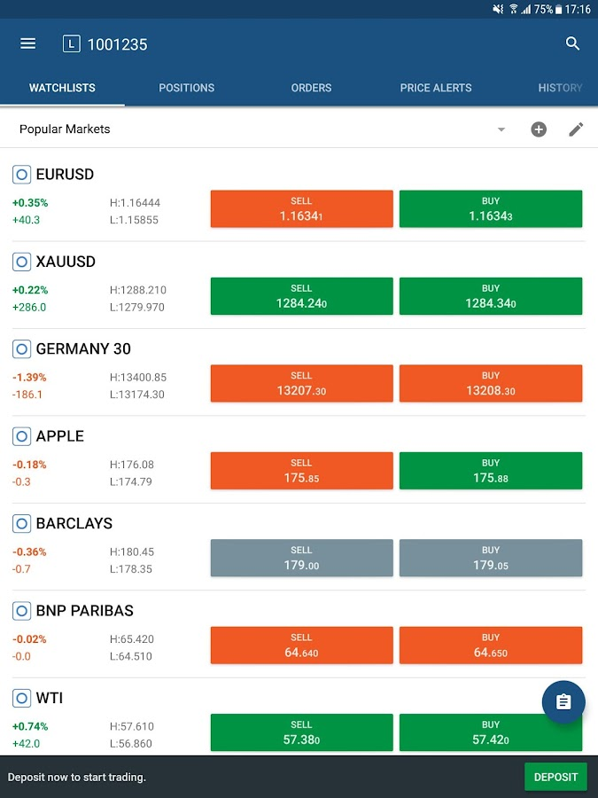 Kawase cTrader - Exchange CFDs- screenshot