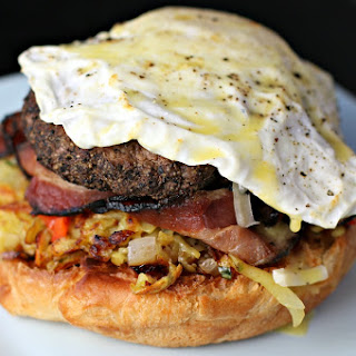 The Manliest Breakfast Burger.