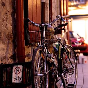 ... by Daniel Gaudin - Transportation Bicycles ( art, street scene, transportation, photography, bicycle,  )