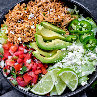 Shredded Chicken Taco Bowl (Low Carb).
