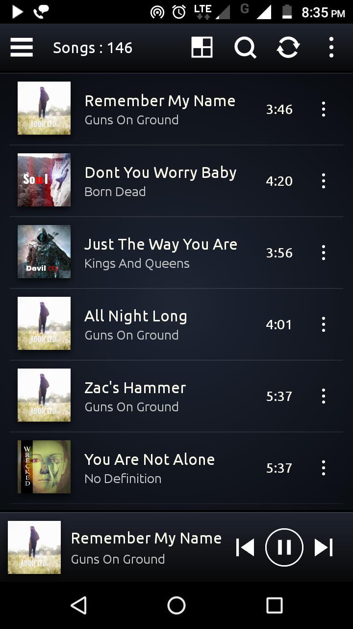PowerAudio Pro Music Player Screenshot
