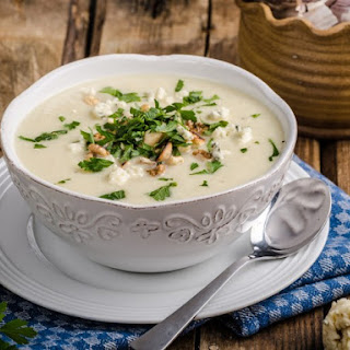 Cream of Cauliflower Blue Cheese Soup
