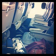 Photo: flying to Paris