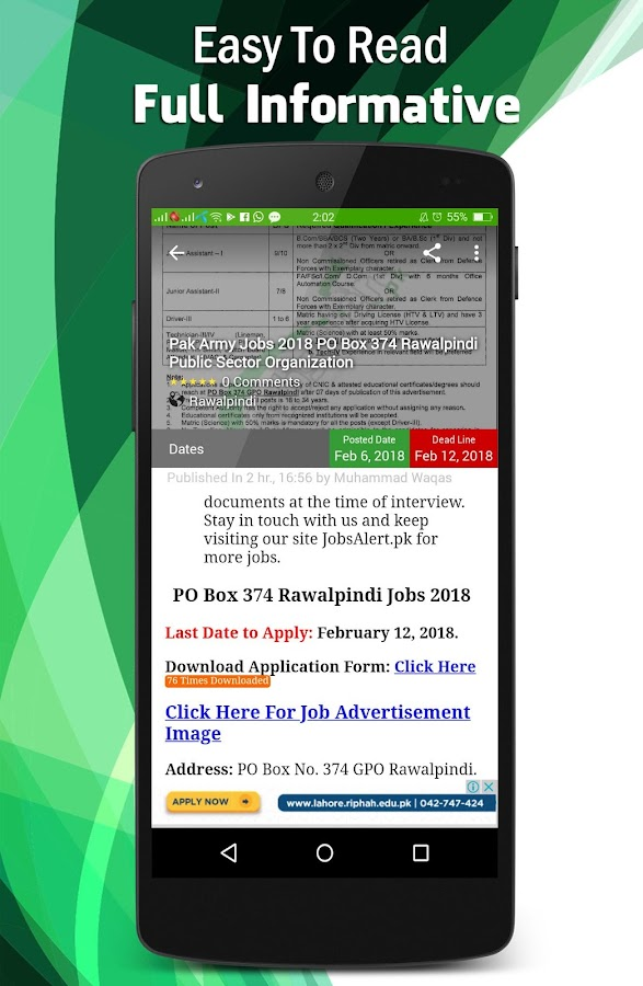 JobsAlert - Pakistan Jobs- screenshot