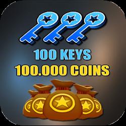 Keys & Coins For Subway Surfer