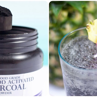 Tropical Fruit Charcoal Detox Smoothie.