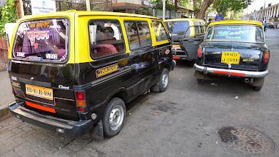 Photo: Tiny van cabs are common.