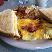Bacon & Cheddar Omelette Plate