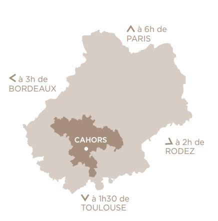 Как добраться в Cahors (Каор)