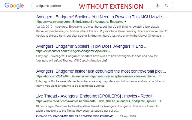 Hide Avengers:Endgame Spoilers