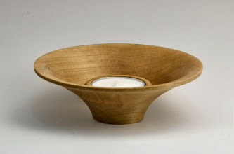"Photo: Gary Guenther - Tea candle holder - 5"" x 1 1/2"" - maple (response to maple block design challenge by Elliot Schantz)"