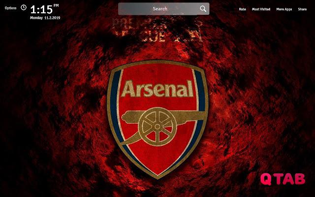 Arsenal Wallpapers Theme Arsenal New Tab
