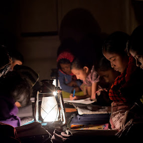 Knowledge is like a lamp. Whenever it is dark, you can light it, and there will be no more darkness. by Soumyadip Maity - News & Events World Events ( system, knowledge, village, poor, lamp, india, education, infrastructure )
